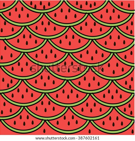 Juicy Watermelon Ideal For Prints Clothing Wallpaper Wrapping Paper
