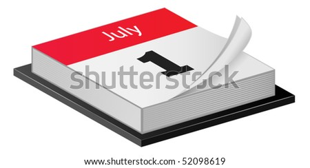 July calender - stock vector