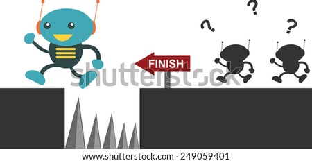 Jump!!! - stock vector