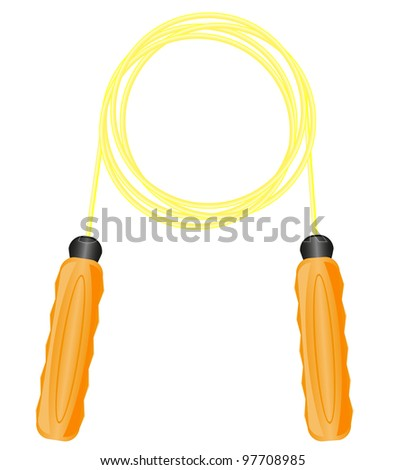 jump rope for fitness vector illustration isolated on white background - stock vector