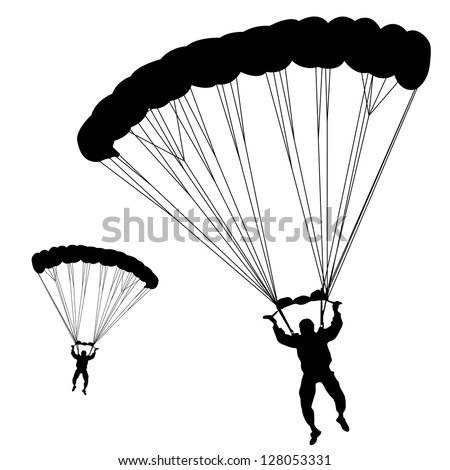 jumper, black and white silhouettes vector illustration - stock vector