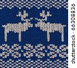 jumper pattern with reindeers, vector illustration - stock vector