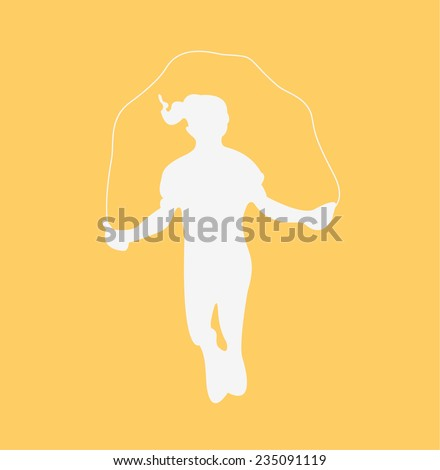Jumping rope - stock vector