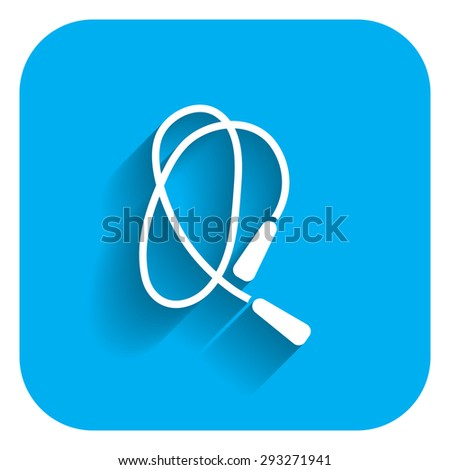 Jumping rope icon - stock vector