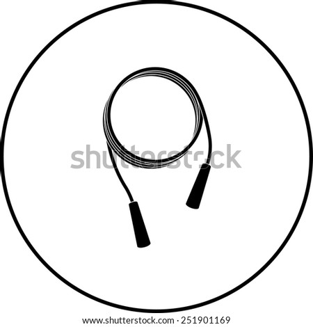 jumping rope symbol - stock vector