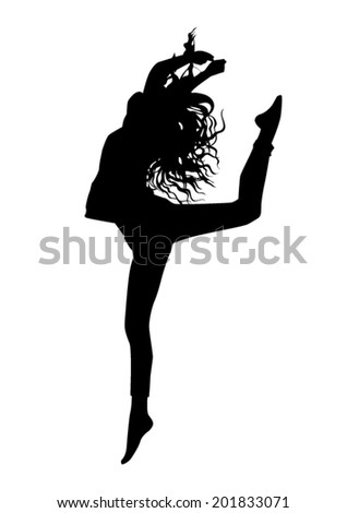 Jumping silhouette - stock vector