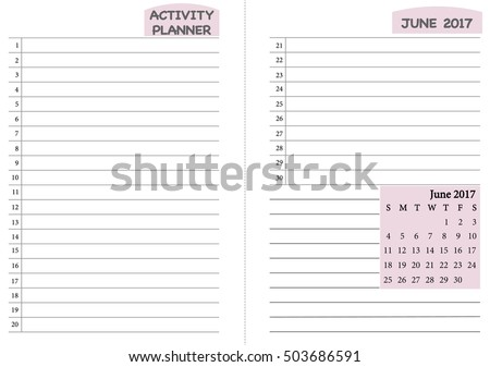 Month Timetable Stock Images, Royalty-Free Images & Vectors