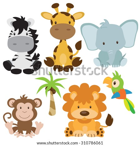 Jungle animal vector illustration - stock vector