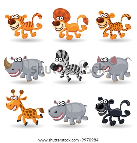 Jungle animals - stock vector