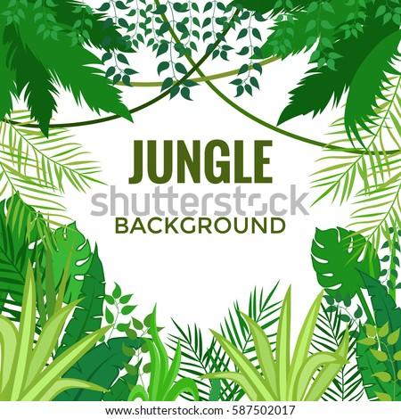 jungle background jungle trees plants vector stock vector hd rh shutterstock com vector planet vector plant power fast food logo