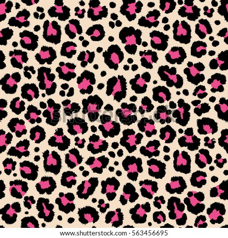 Jungle exotic safari leopard pattern texture repeating seamless pink black print