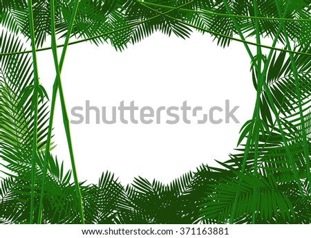 jungle forest backgound for you text or simple image. vector illustration - stock vector