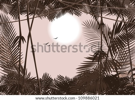 jungle forest. Vector 2 - stock vector