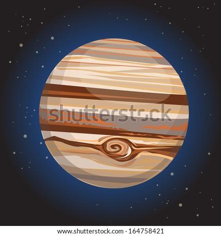 Jupiter, Vector illustration - stock vector