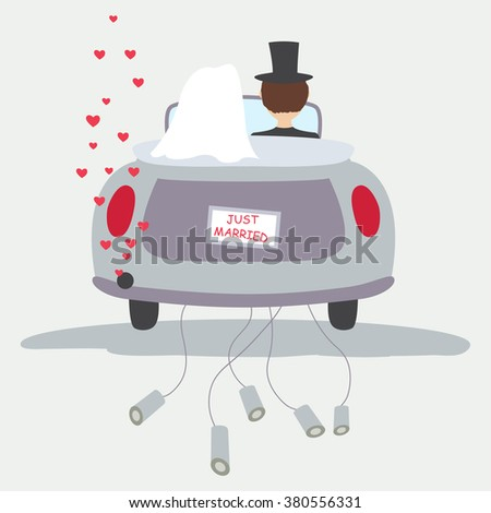 Just married,Vector - stock vector