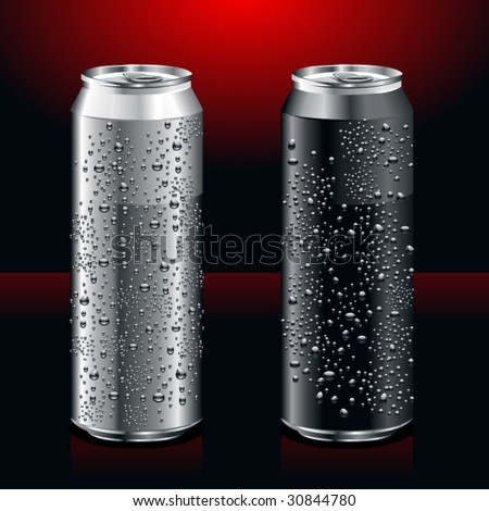 Just set of realistic cans - stock vector