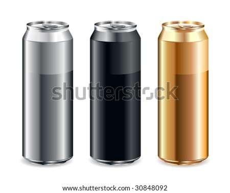 Just set of realistic cans