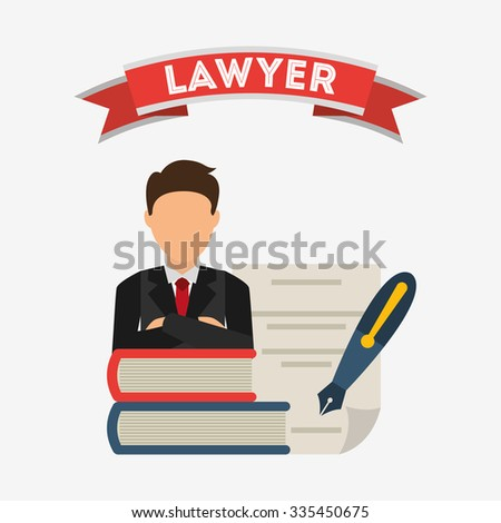 justice and law design, vector illustration eps10 graphic  - stock vector