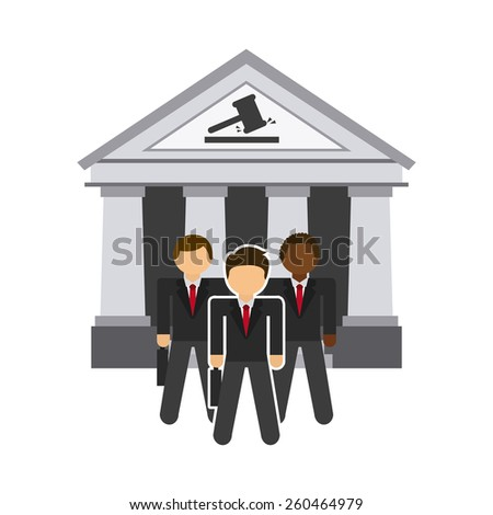 justice icon design, vector illustration eps10 graphic