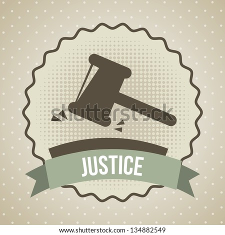 justice icon over beige background. vector illustration - stock vector