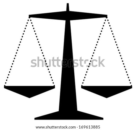 justice scale silhouette simple - stock vector