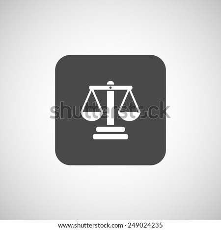 justice vector icon vector symbol measurement balance - stock vector