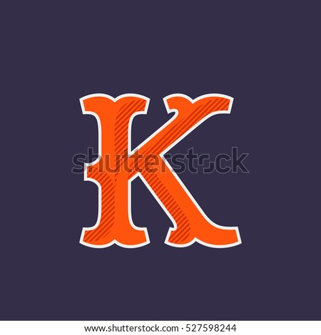 K letter logo simple elegant font stock vector hd royalty free k letter logo simple and elegant font with diagonal line shadow vector vintage typography thecheapjerseys Image collections