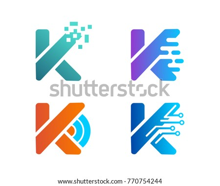 K Letter Symbol Icon Tech Logo Stock Vector Royalty Free 770754244