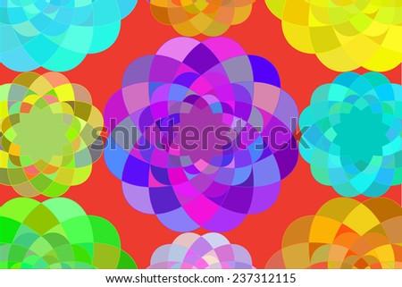 kaleidoscope background  - stock vector