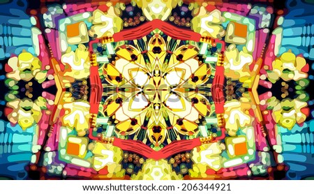 Kaleidoscope mosaic background, vector eps8 illustration - stock vector