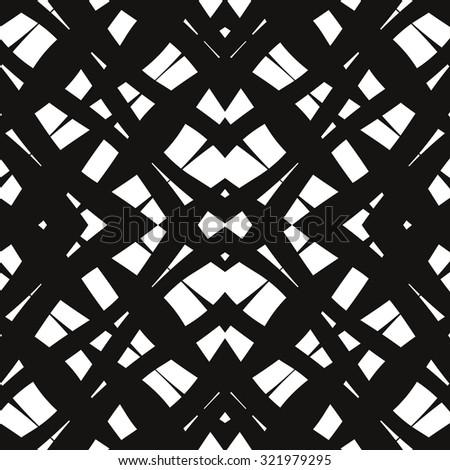 Kaleidoscope pattern, diamond, square, seamless vector background. - stock vector