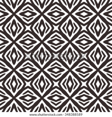 Kaleidoscope vector abstract seamless background based on zebra stripes. Beautiful natural pattern.