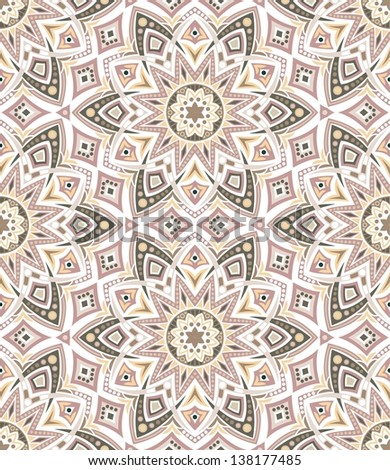 Kaleidoscope. Vector seamless background - stock vector