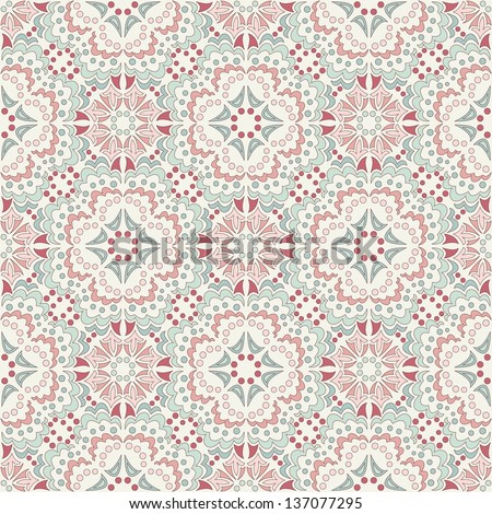 kaleidoscope, vector seamless pattern - stock vector