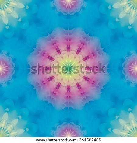 Kaleidoscopic seamless pattern eps10 - stock vector