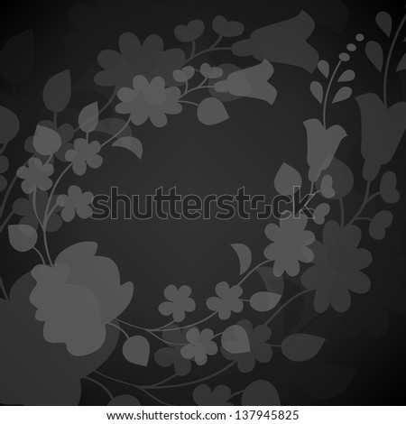 Kalocsai pattern on gray - stock vector