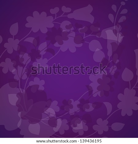 Kalocsai pattern on purple - stock vector