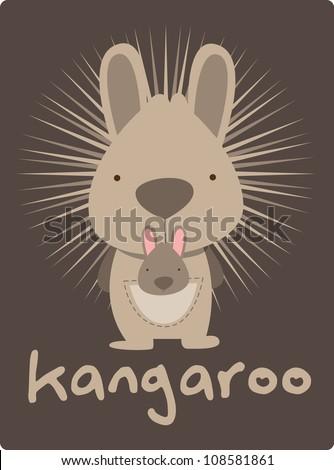 kangaroo - stock vector