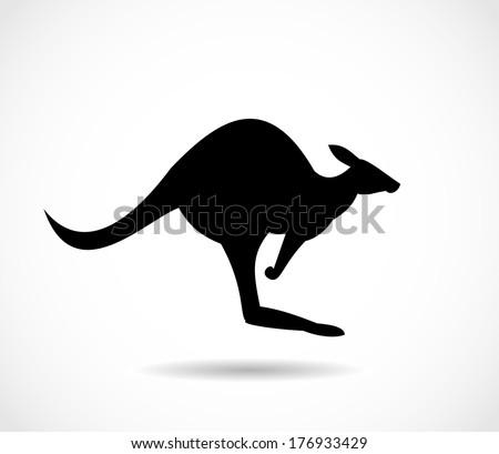 Kangaroo icon vector - stock vector