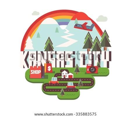 Kansas city logo in colorful vector - stock vector