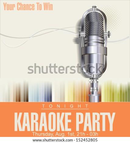 Karaoke background - stock vector