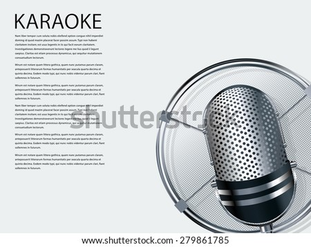 Karaoke party background - stock vector