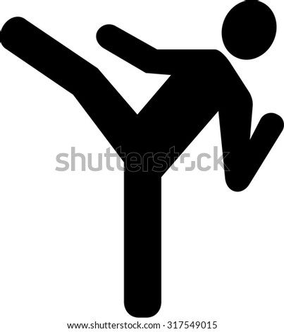 Karate Icon - stock vector