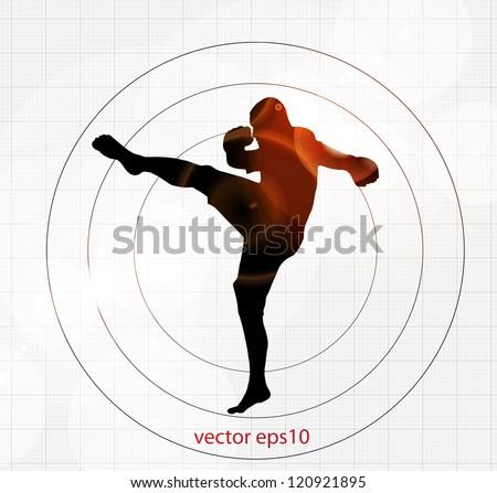 Karate vector illustration - stock vector