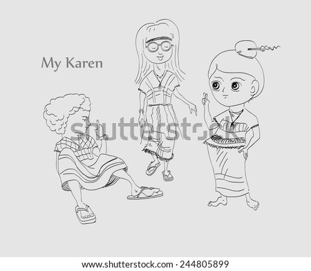 Karen cartoon - stock vector