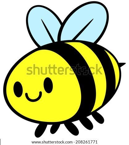 Kawaii Bee - stock vector
