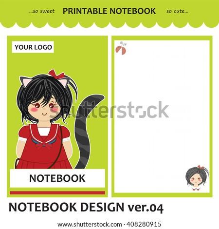Kawaii Printable Notebook Vector Set Cover Vector 406005037 – Printable Notepad Paper