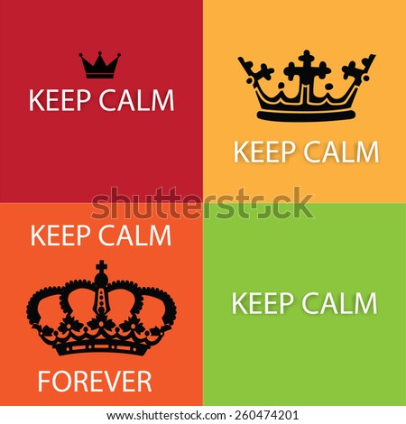 Keep calm poster collection set. Vector illustration - stock vector