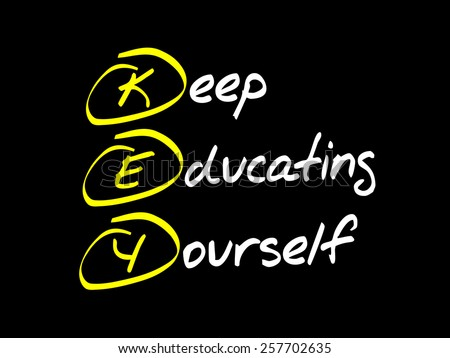 Keep Educating Yourself (KEY), business concept acronym - stock vector