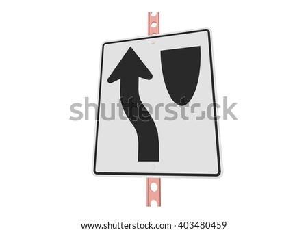 Keep left - 3d illustration of roadsign isolated on white background - stock vector